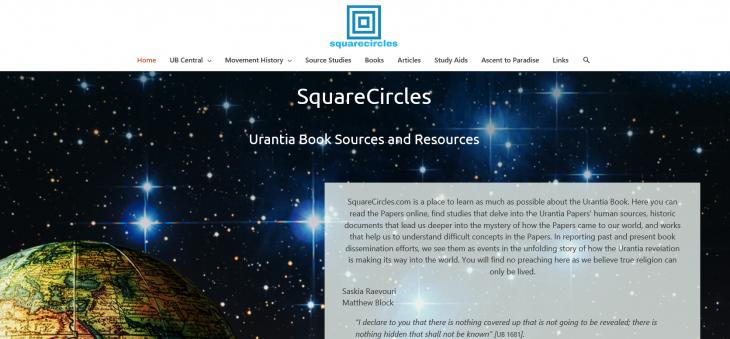 SquareCircles - 유란시아 연구를 위한 사이트